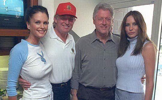 Con The Donald e Bill Clinton (foto Wikipedia)