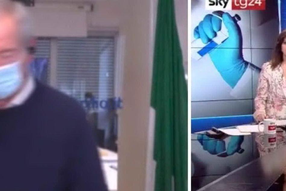 La giornalista lo incalza sui vaccini: Bertolaso lascia lo studio