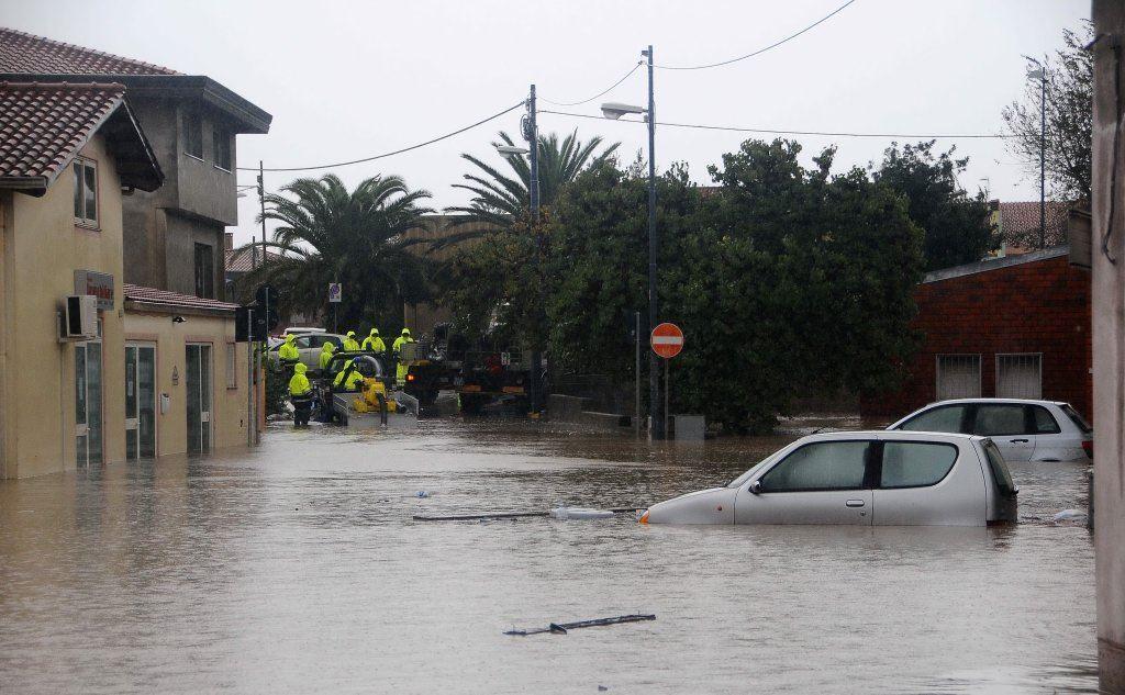 Terralba, colpita nel 2013 dall'alluvione Cleopatra (foto archivio L'Unione Sarda)
