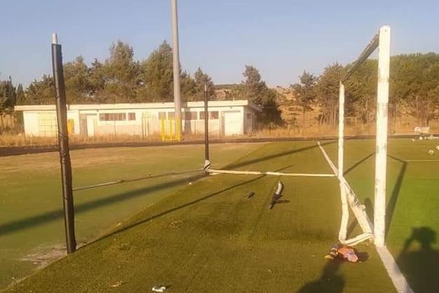 Ozieri, atti vandalici nel campo sportivo di San Nicola