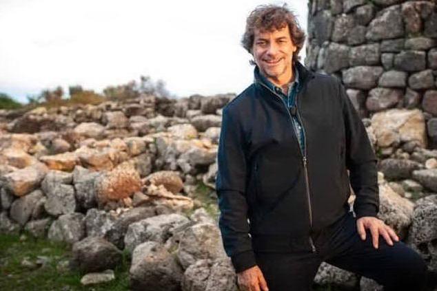 Alberto Angela in Sardegna (foto da frame video)