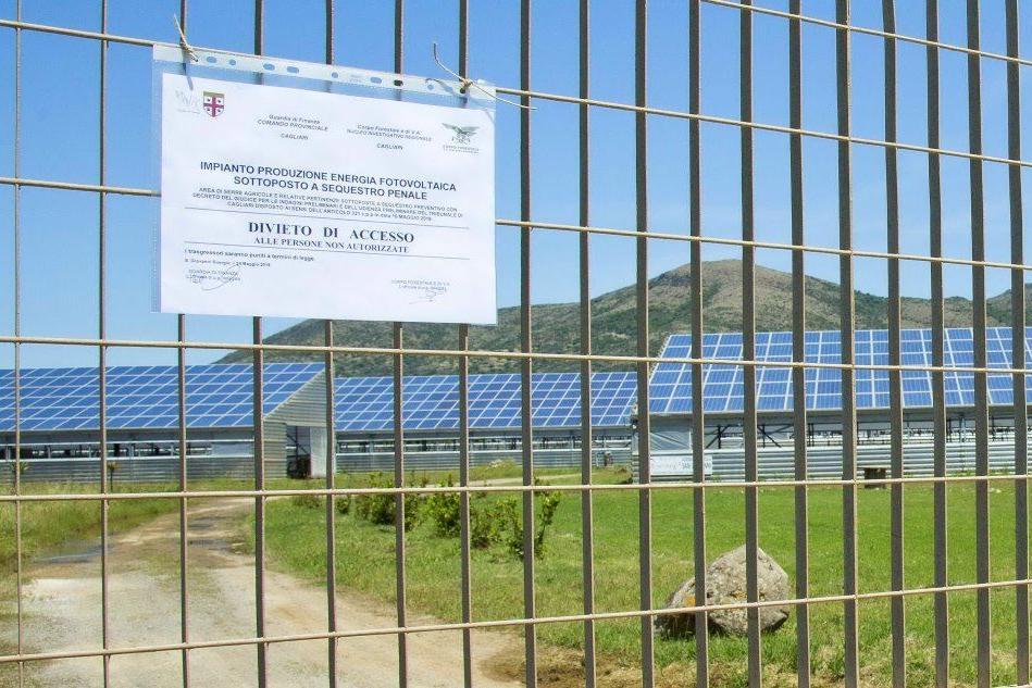 Uno dei parchi sotto sequestro a San Giovanni Suergiu (foto Fabio Murru)