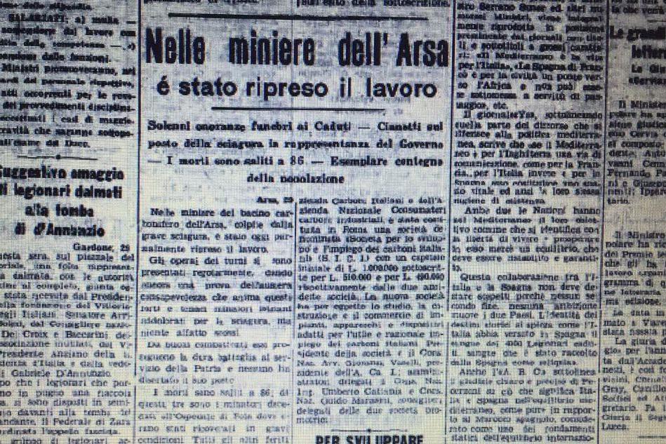 Febbraio tragico, l'incubo della miniera di Arsia del 1940