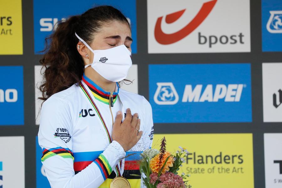 Elisa Balsamo vince il mondiale di ciclismo su strada in Belgio