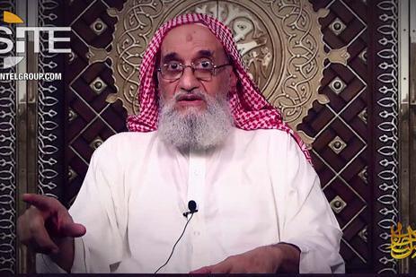"""Al Qaeda diffonde un video di Al Zawahiri: """"Onore ai nostri martiri"""""""