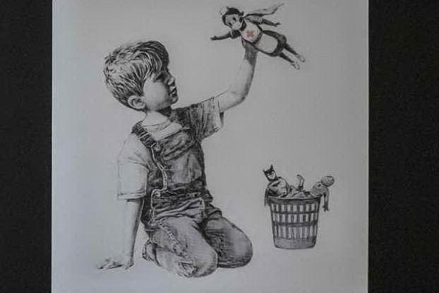 Asta da record per Banksy: 20 milioni alla sanità britannica contro il Covid
