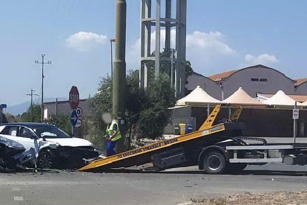 Sanluri, scontro fra due auto nella zona di Villasanta