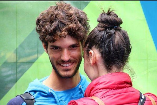 Il campione oristanese con la fidanzata Camilla