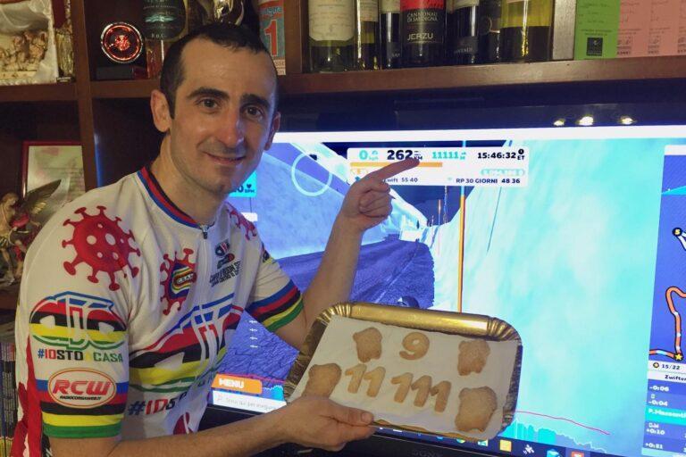 Guasila, nuovo record di resistenza per il ciclista Paolo Massenti