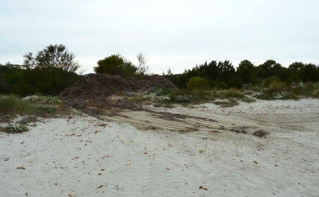 Le tracce dei mezzi che tagliano le dune