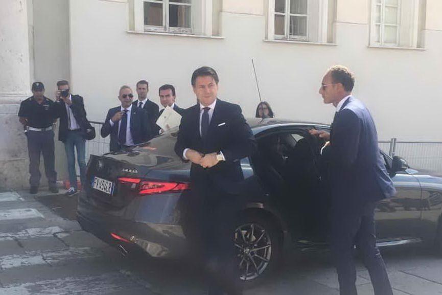 Il premier Giuseppe Conte a Cagliari: le foto