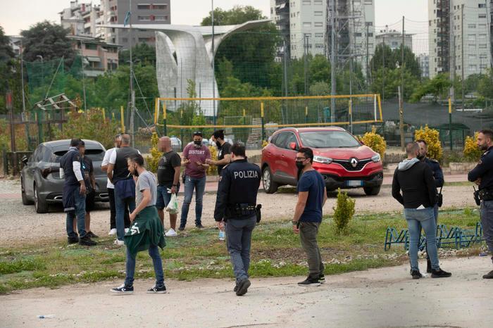 Il luogo dell'aggressione (foto Ansa)