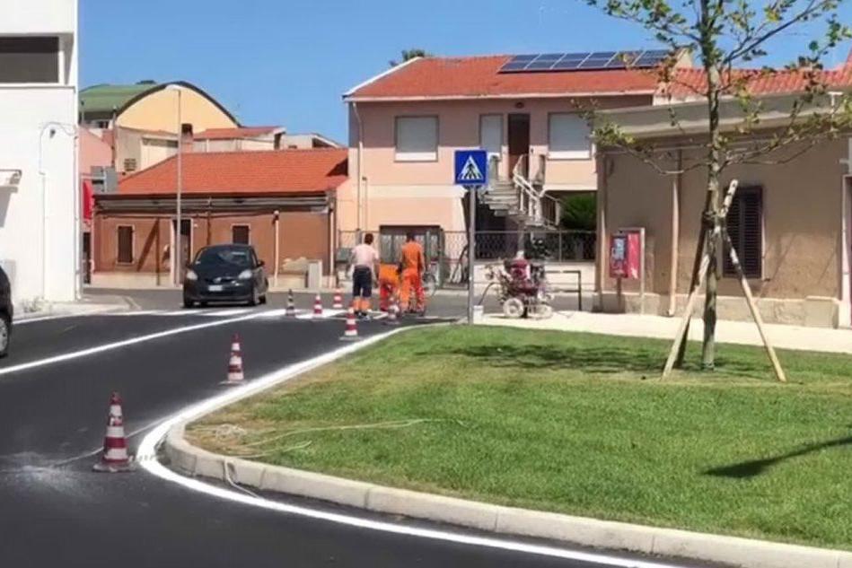 Nuovi asfalti e aree verdi a Oristano