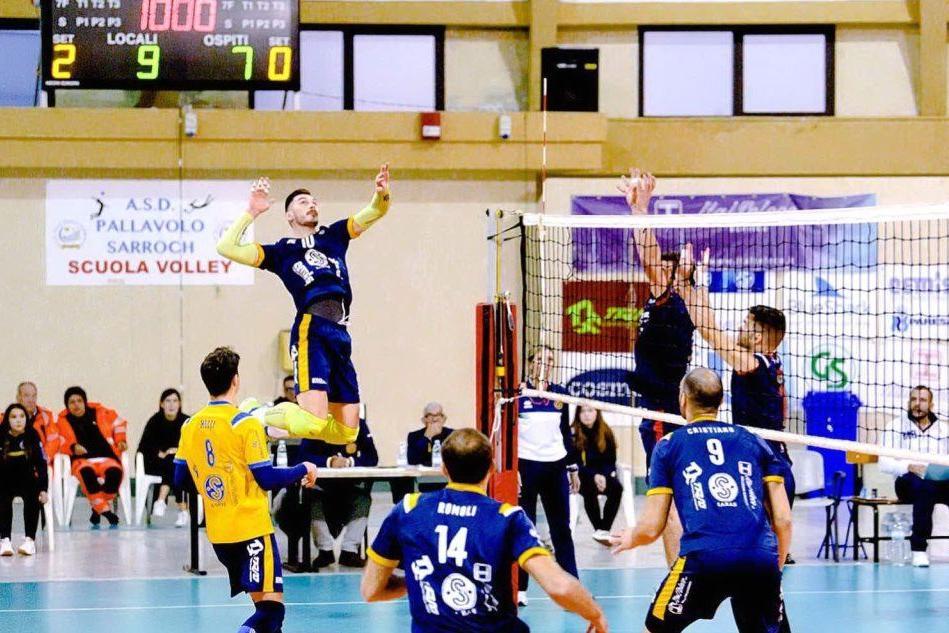 Volley, Sarroch piega Orte al tie break