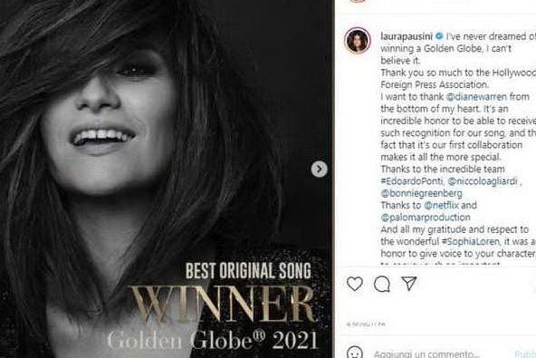 Golden Globe, trionfa Laura Pausini
