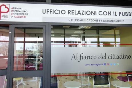 L'ufficio Urp (Foto Aou Cagliari)