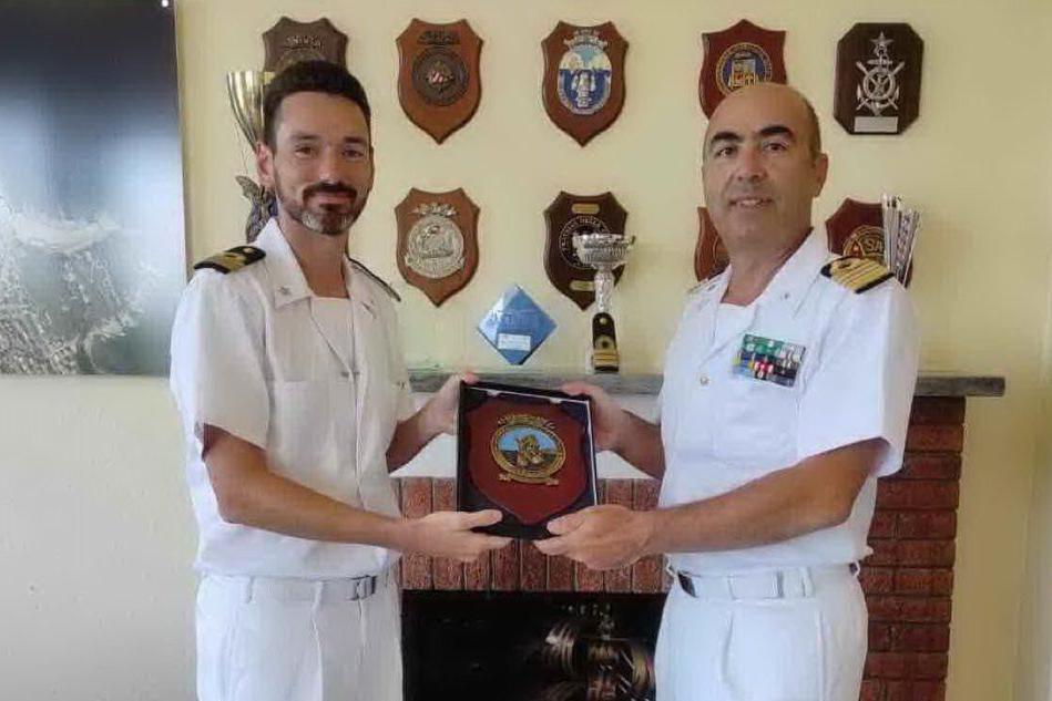 Il capitano Valente visita il Circomare di Arbatax