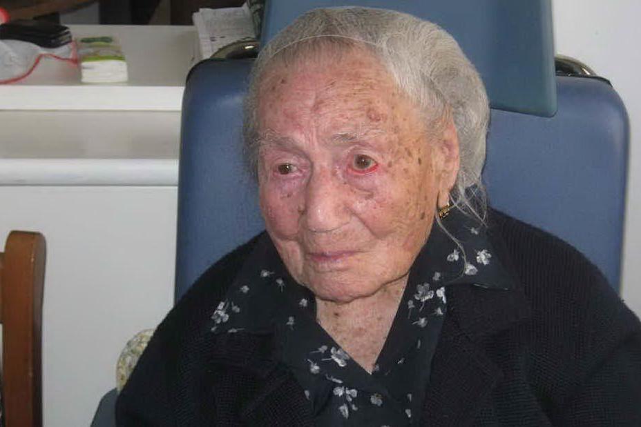 Nata nel 1902 a La Maddalena, Giuseppina è la donna più anziana d'Europa