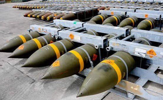 Oggetto dell'esposto i missili della liena MK 80 prodotti ed esportati dalla Rwm di Domusnovas (foto L'Unione Sarda - Farris)