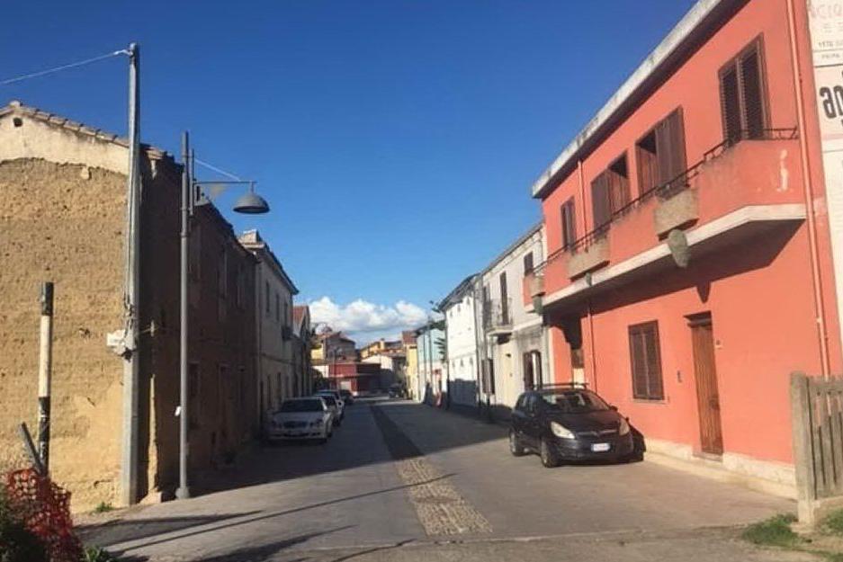 Via Convento, una delle strade più importanti di San Gavino Monreale (foto Pittau)