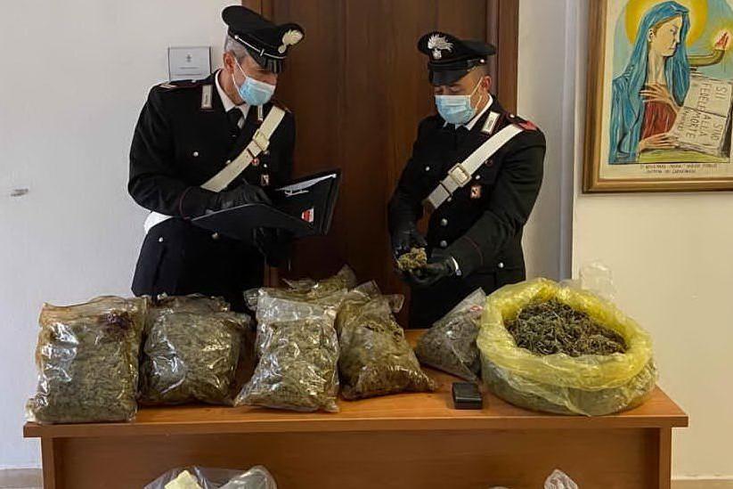 Laboratorio della droga in una villetta di Cugnana, due arresti