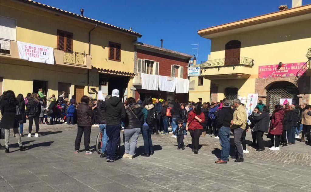 La piazza di Burcei (foto Antonio Serreli)