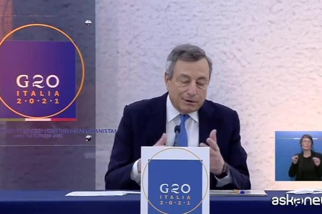 """Draghi: """"Al G20 volontà di aiutare chi vuole lasciare Afghanistan"""""""