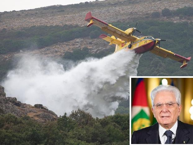 """Incendi, il Presidente Mattarella chiama Solinas: """"Solidarietà e vicinanza alla Sardegna"""""""