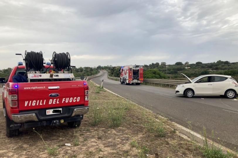 La scena dell'incidente (foto M. Pala)