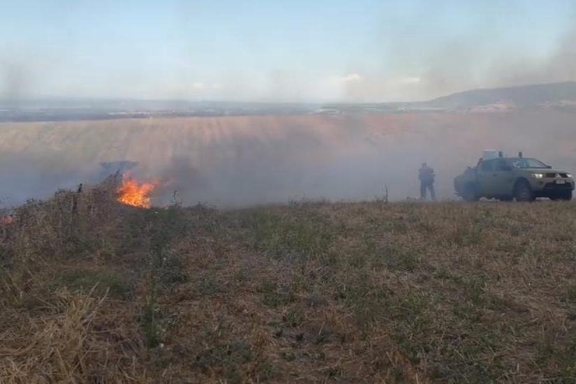 Un incendio (Archivio L'Unione Sarda)