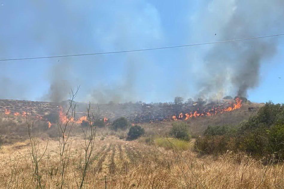 Ancora fiamme a Furtei e San Gavino