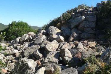 Uno dei nuraghi semidistrutti a Capo Teulada