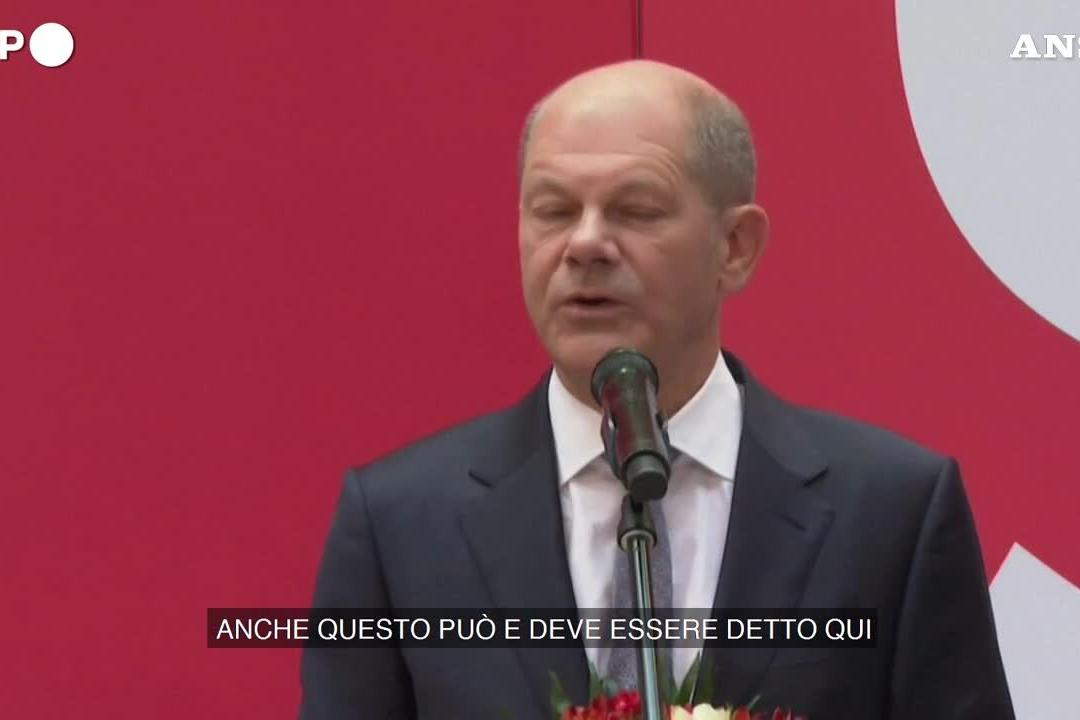 "Elezioni in Germania, Scholz: ""Cdu e Csu all'opposizione"""