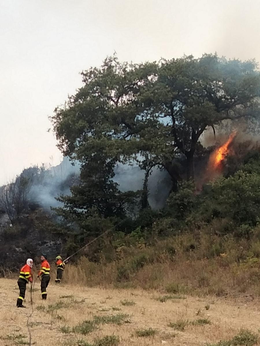 Ittiri, la lotta contro il fuoco (Foto C.Fiori)