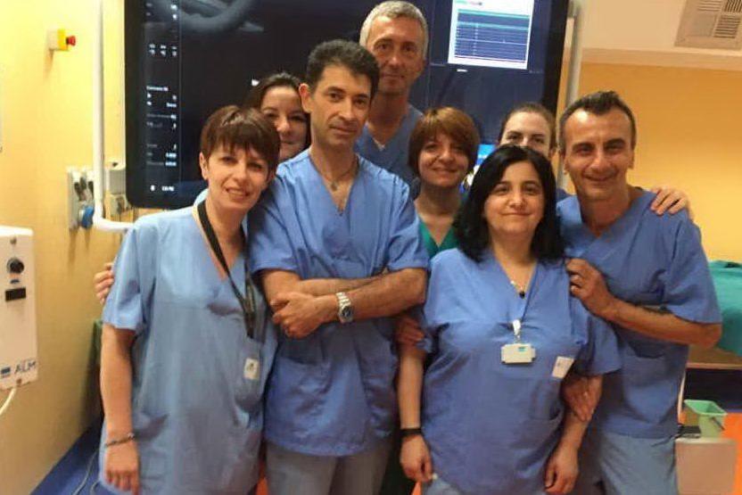Il team torinese che ha effettuato il delicato intervento (foto Maria Pia Hospital)