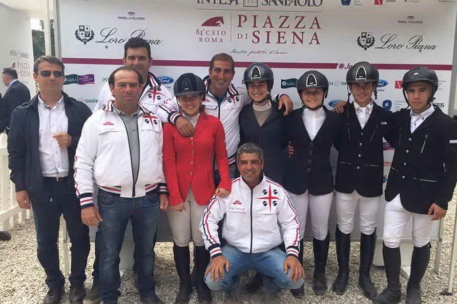 Equitazione, ottima prova a Piazza di Siena della squadra giovanile sarda