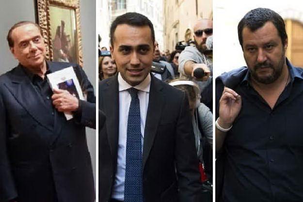 Silvio Berlusconi, Luigi Di Maio e Matteo Salvini