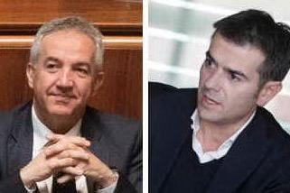 Filippo Spanu e Massimo Zedda (Archivio L'Unione Sarda)