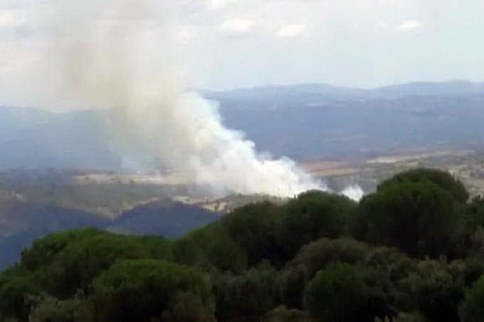 Nuovo incendio a Nurri, in fiamme sugherete e macchia mediterranea
