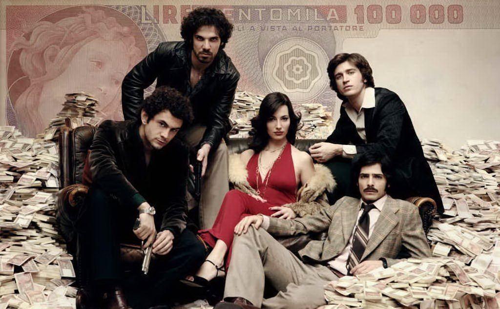 Alcuni protagonisti del cast della serie tv ispirata alla banda della Magliana