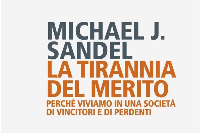 La copertina del\u00A0libro di Michael J. Sandel (foto Meloni)