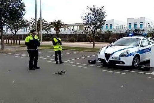 Cagliari, i droni per le misure anti-coronavirus