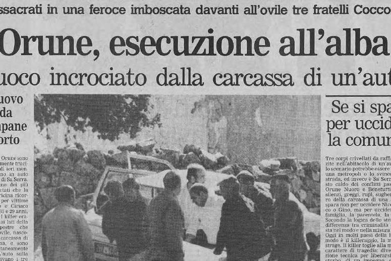 #AccaddeOggi: 25 settembre 1989, massacro a Orune, uccisi tre fratelli