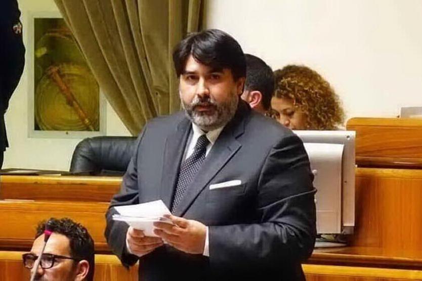 Christian Solinas in Consiglio regionale (archivio L'Unione Sarda)