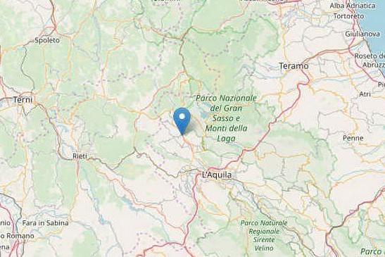 Terremoto di magnitudo 3.7 in provincia de L'Aquila