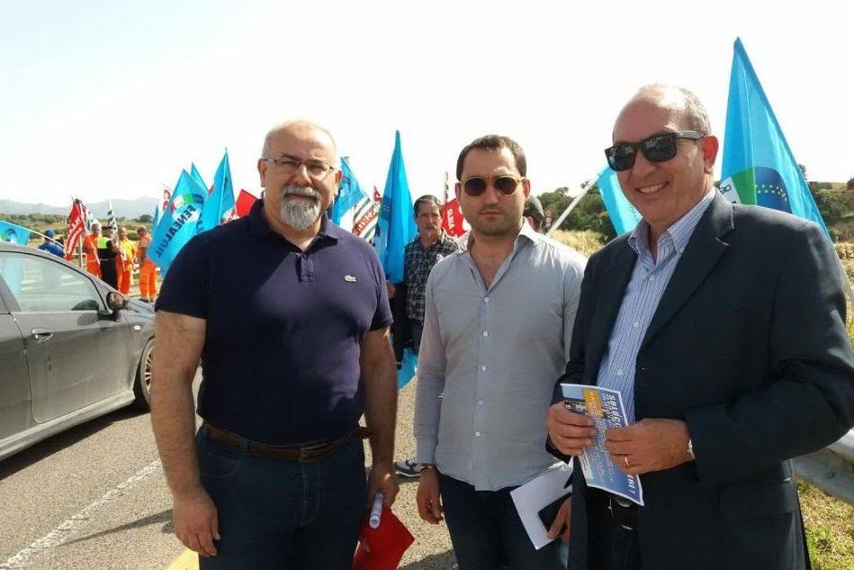 Protesta sulla Sassari-Olbia, in campo i sindaci di Berchidda, Oschiri e Ozieri