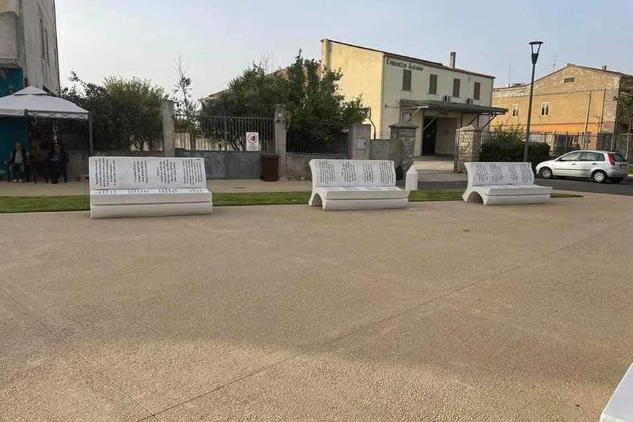 Mandas, una nuova piazza dedicata a Grazia Deledda