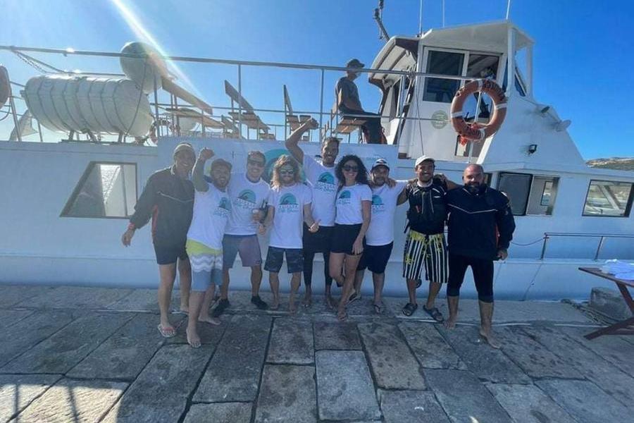 Livio Pomponi ce l'ha fatta: completato il giro a nuoto dell'Asinara in 48 ore