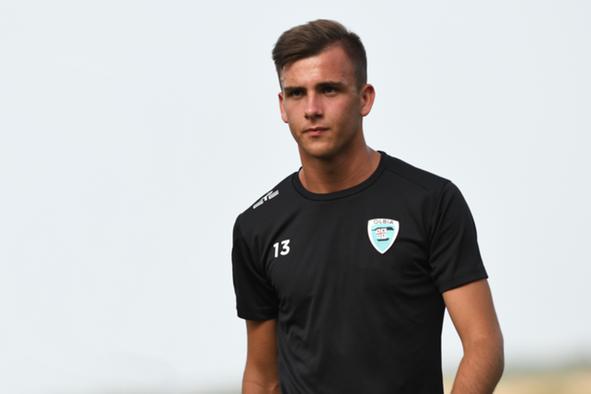 Stefano Lapia in ritiro con l'Olbia a Buddusò (foto Olbia Calcio)