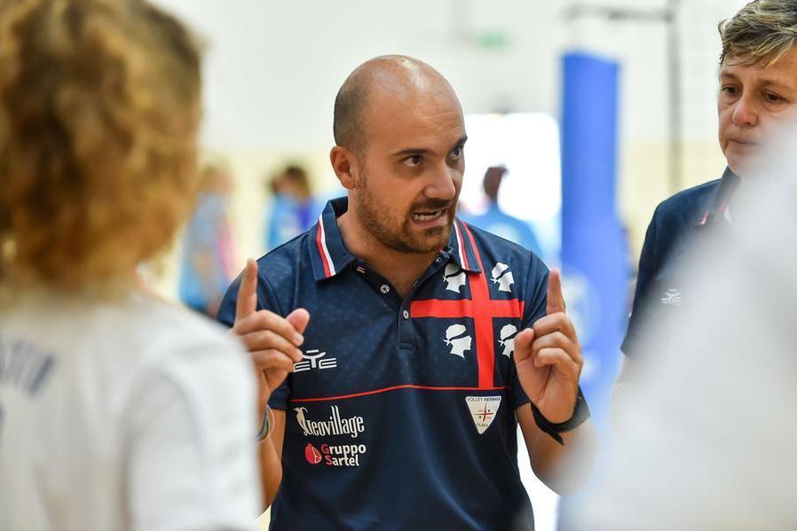 Michelangelo Anile, ex coach dell'Hermaea e oggi diggì del club olbiese (foto Hermaea Olbia)